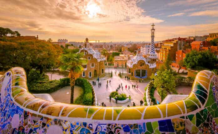 Guell park in Barcelona, Spain. Courtesey: 2017 - 2019 Fotolia.