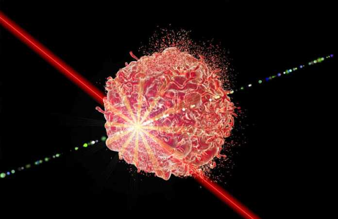 Laser therapy of cancer concept