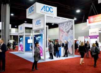 Featured Image: ADC Therapeutics Booth at AACR 2018 Courtesy: © 2017 – 2018. Sunvalley Communication, LLC / Evan Wendt. Used with permission.