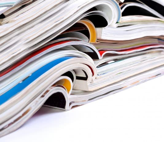 Magazines heap detail
