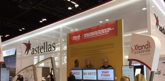 Astellas Pharma, Exhibition booth during ASCO 2019, held May 31 – June 4, 2019 in Chicago, Ill.| Courtsey: Emila Duaerte / Sunvalley Communication