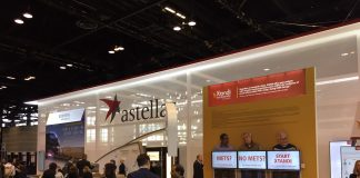 Astellas Pharma. Exhibition booth during the 2019 annual meeting of the American Society of Medical Oncology (ASCO).