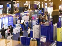 Photo: Exhibition - Bird's Eye Overview. The 15th annual PEGS: The Essential Protein Engineering Summit brought more than 2,700 world-renowned experts, visionaries, and influencers from top pharma, biotech, academic, and government institutions to the Seaport World Trade Center in Boston, MA this past April 8-12, 2019, setting record-breaking attendance. Photo courtesy: CHI/PEGS