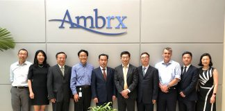 Signing Ceremony between Ambrx an NovoCodex. Courtesy 2019 NovoCodex.