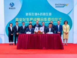 On October 16, 2019 Novocodex Biopharmaceuticals, a subsidiary of Zhejiang Medicine, and WuXi Biologics signed a strategic partnership for Phase III clinical trial production of ARX788 as well ongoing large-scale commercial production of the innovative antibody-drug conjugate.