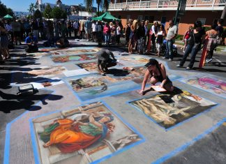 Gesso Italiano (Italian Chalk) in San Diego's Little Italy neighborhood celebrating its heritage by bringing the vibrancy and flavors of Italy to southern California. Courtesy: 2016 Fotolia.