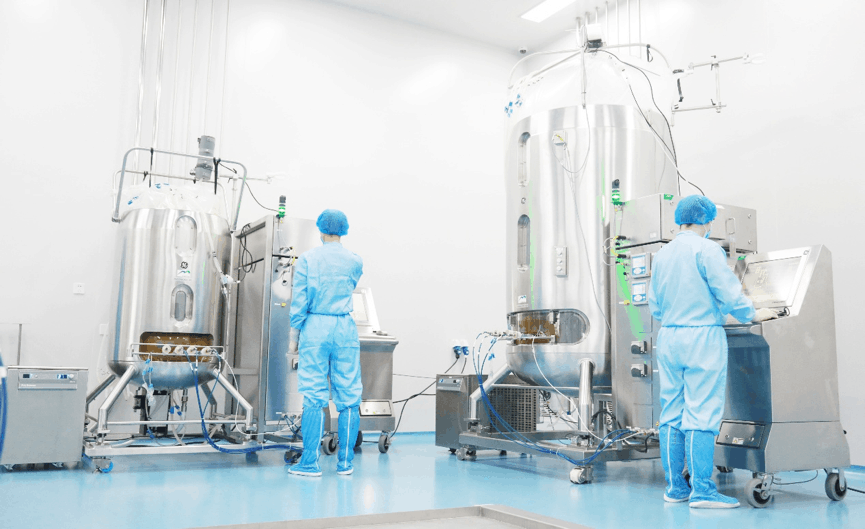 MabPlex has started operations of two cell culture production lines of GE brand 2,000-liter single-use bioreactors. Photo Courtesy: MabPlex USA, Inc.